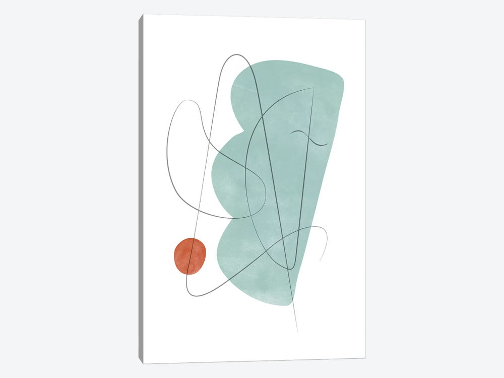 Abstract Composition With Lines X by Nouveau Prints 1-piece Canvas Artwork