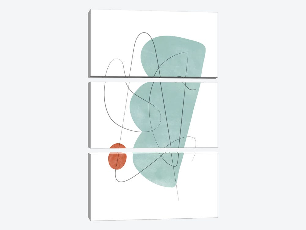 Abstract Composition With Lines X by Nouveau Prints 3-piece Canvas Artwork