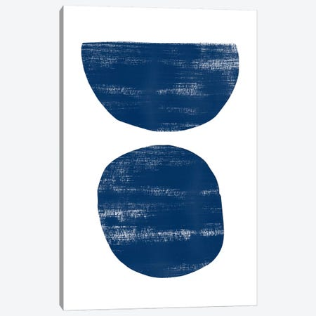 Abstraction I Navy Blue Canvas Print #NUV10} by Nouveau Prints Canvas Artwork
