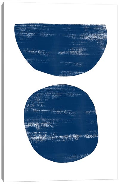 Abstraction I Navy Blue Canvas Art Print