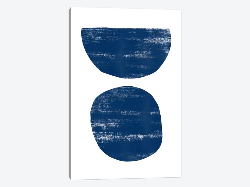 Abstraction I Navy Blue by Nouveau Prints 1-piece Art Print