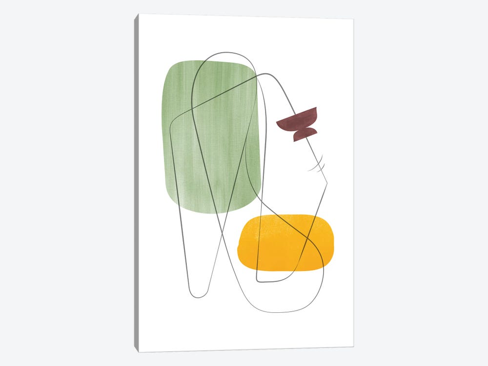 Abstract Composition With Lines XI by Nouveau Prints 1-piece Canvas Art