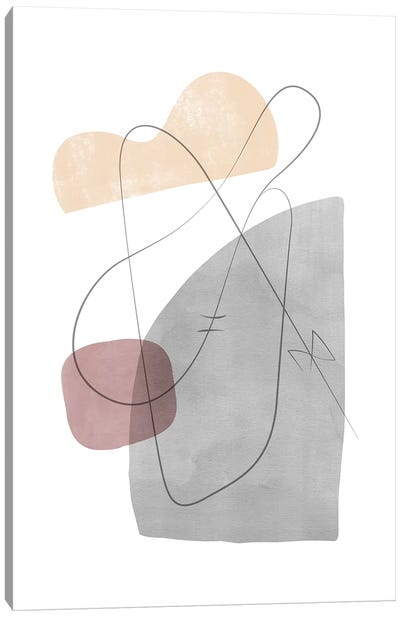 Abstract Composition With Lines XII Canvas Art Print