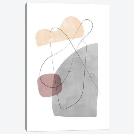 Abstract Composition With Lines XII Canvas Print #NUV111} by Nouveau Prints Canvas Art