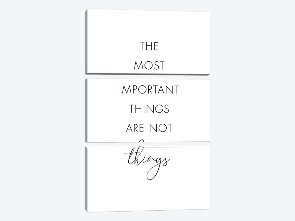 The Most Important Things Are Not Things by Nouveau Prints 3-piece Canvas Wall Art