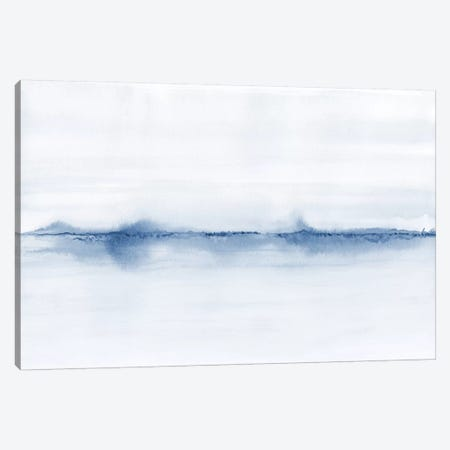 Watercolor Landscape V - Shades Of Blue 3-Piece Canvas #NUV129} by Nouveau Prints Canvas Print
