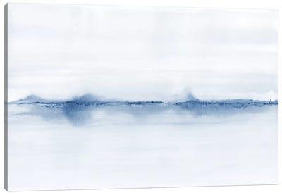 Watercolor Landscape V - Shades Of Blue Canvas Art Print