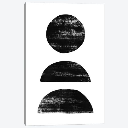 Abstraction II Black Canvas Print #NUV12} by Nouveau Prints Canvas Art