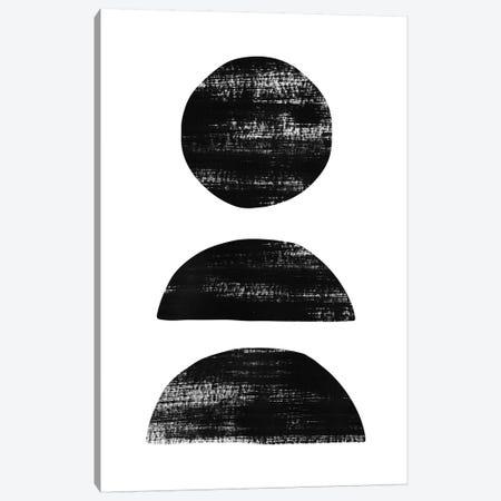 Abstraction II Black Canvas Print #NUV12} by Nouveau Prints Canvas Art