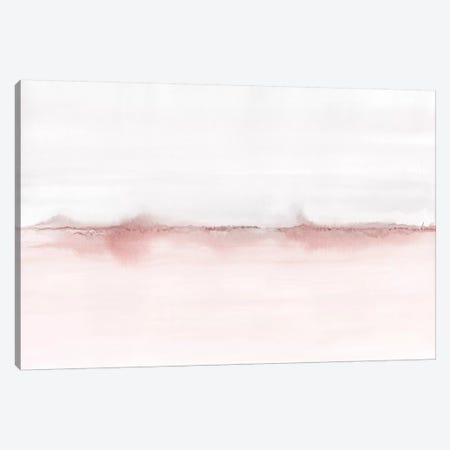Watercolor Landscape VI - Blush Pink And Gray Canvas Print #NUV130} by Nouveau Prints Canvas Wall Art