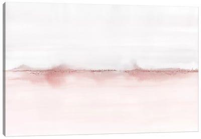 Watercolor Landscape VI - Blush Pink And Gray Canvas Art Print