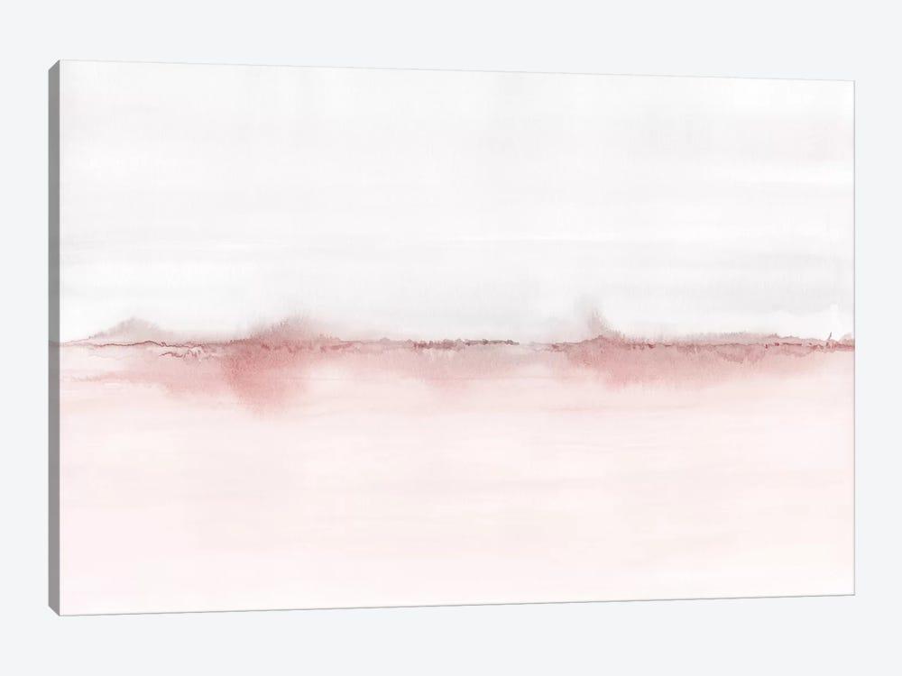 Watercolor Landscape VI - Blush Pink And Gray by Nouveau Prints 1-piece Canvas Artwork