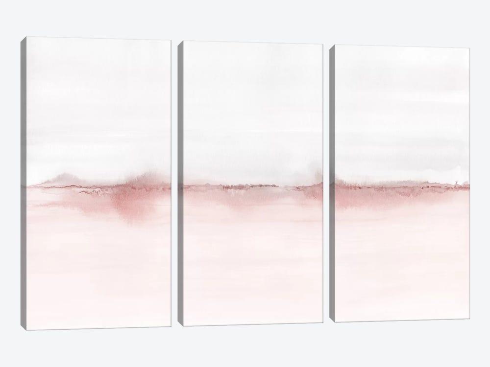 Watercolor Landscape VI - Blush Pink And Gray by Nouveau Prints 3-piece Canvas Art