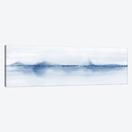Watercolor Landscape V - Shades Of Blue - Panoramic Canvas Print #NUV132} by Nouveau Prints Canvas Art