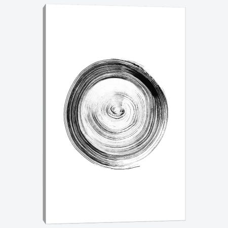 Ink Circle Canvas Print #NUV139} by Nouveau Prints Canvas Wall Art
