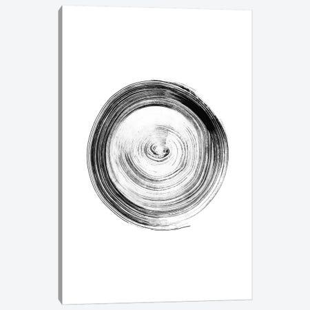 Ink Circle Canvas Print #NUV139} by Nouveau Prints Canvas Wall Art