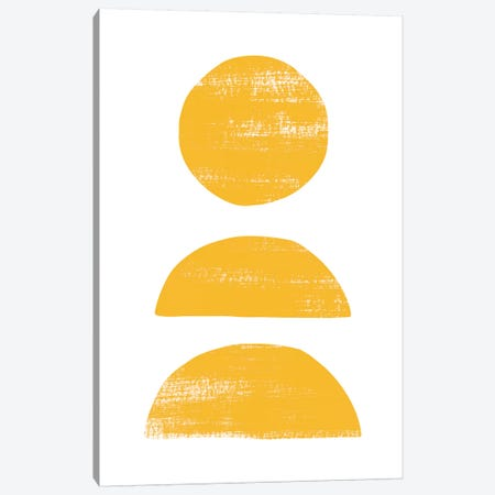 Abstraction II Yellow 3-Piece Canvas #NUV13} by Nouveau Prints Canvas Wall Art