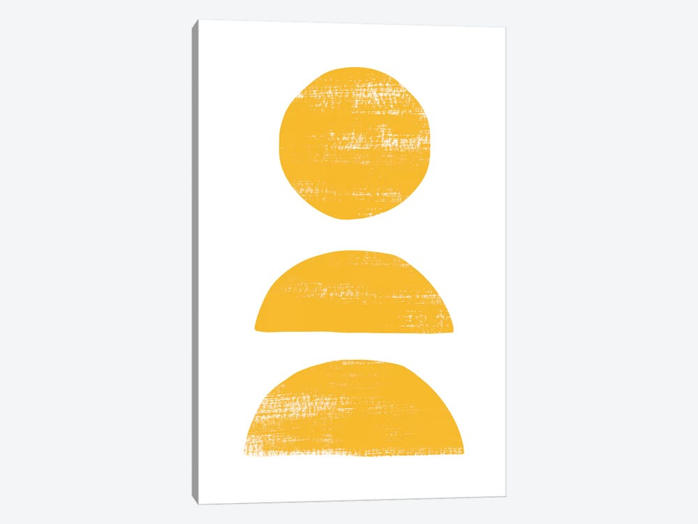 Abstraction II Yellow by Nouveau Prints 1-piece Canvas Art