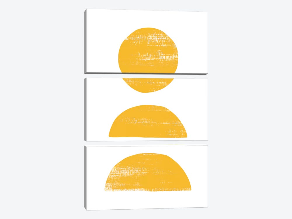 Abstraction II Yellow by Nouveau Prints 3-piece Canvas Art