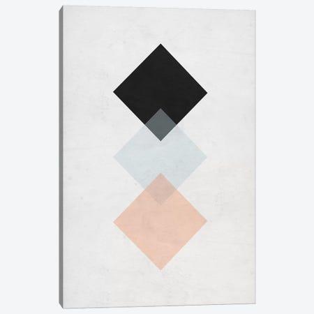 Squares - Gray Background Canvas Print #NUV141} by Nouveau Prints Art Print