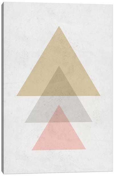 Triangles - Gray Background Canvas Art Print