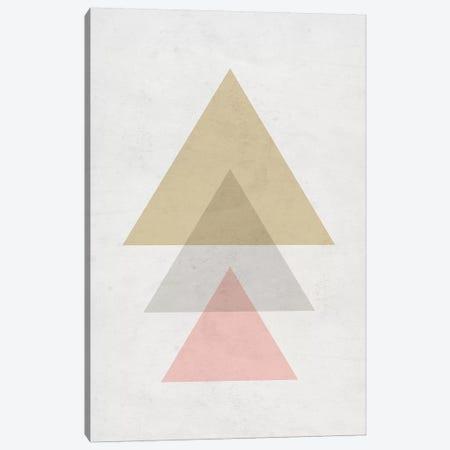 Triangles - Gray Background Canvas Print #NUV142} by Nouveau Prints Canvas Print