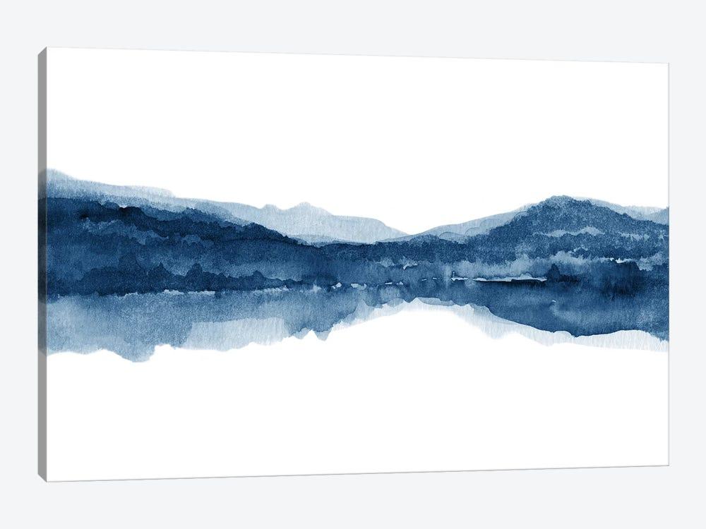 Watercolor Landscape X - Navy Blue by Nouveau Prints 1-piece Canvas Wall Art