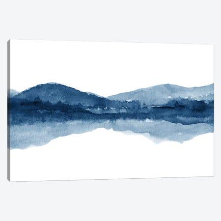 Watercolor Landscape Xi - Navy Blue Canvas Print #NUV146} by Nouveau Prints Canvas Artwork