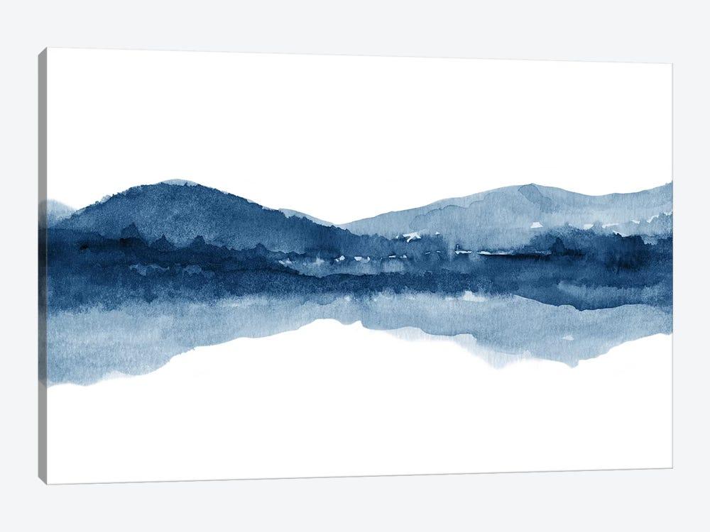 Watercolor Landscape Xi - Navy Blue by Nouveau Prints 1-piece Canvas Art Print