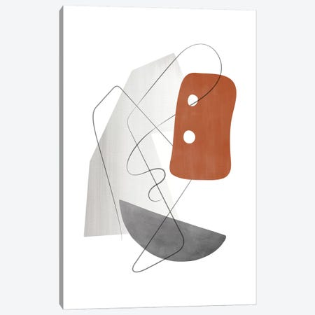 Abstract Composition With Lines Xiii Canvas Print #NUV149} by Nouveau Prints Canvas Art Print