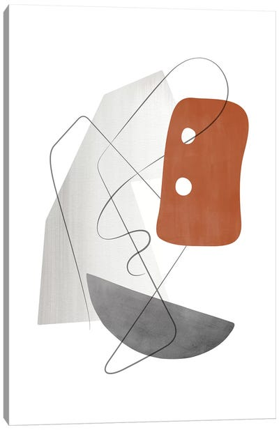 Abstract Composition With Lines Xiii Canvas Art Print