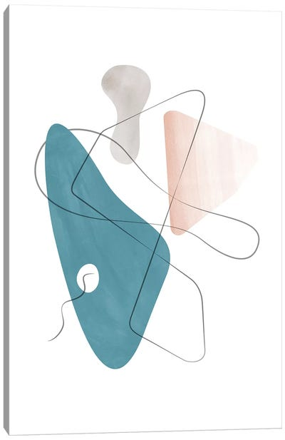Abstract Composition With Lines Xiv Canvas Art Print