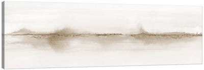 Watercolor Landscape Vii Shades Of Sepia - Panoramic Canvas Art Print