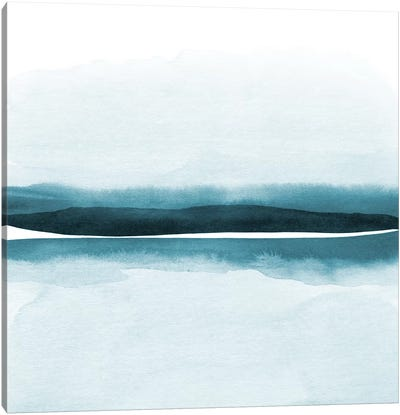 Watercolor Landscape XII - Square Canvas Art Print