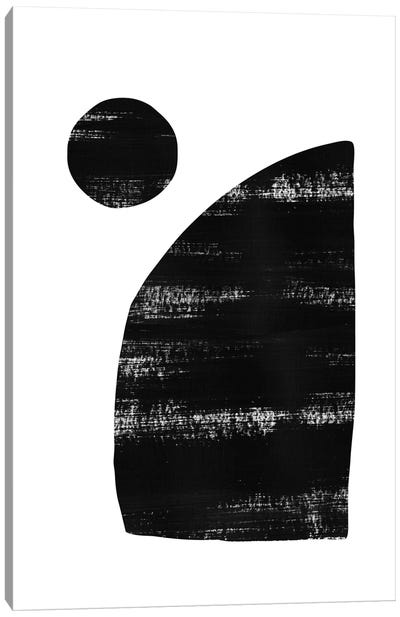 Abstraction III Black Canvas Art Print