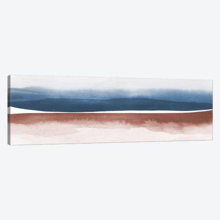 Watercolor Landscape XI - Panoramic Canvas Print #NUV161} by Nouveau Prints Canvas Print