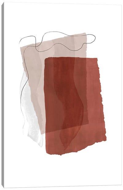 Fragment II - Terracotta Canvas Art Print