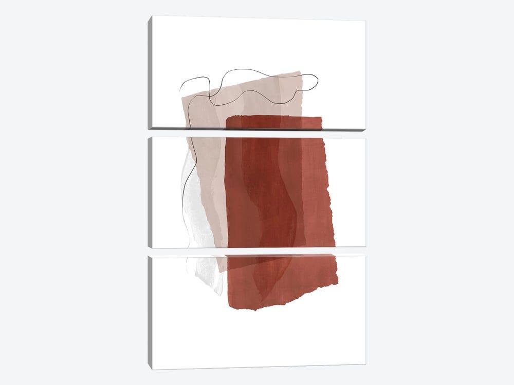 Fragment II - Terracotta by Nouveau Prints 3-piece Canvas Art Print