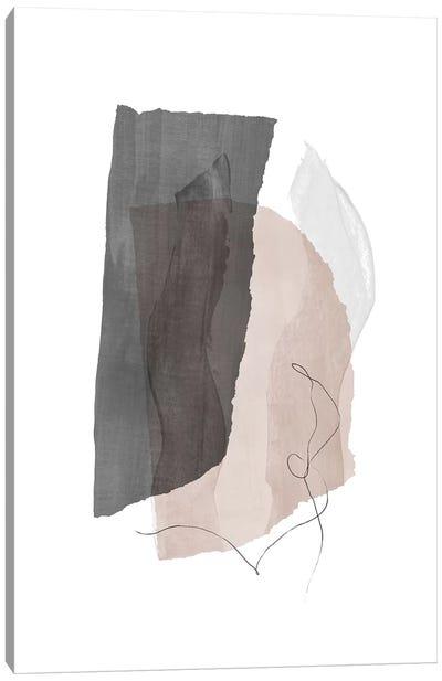Fragment III - Gray Canvas Art Print