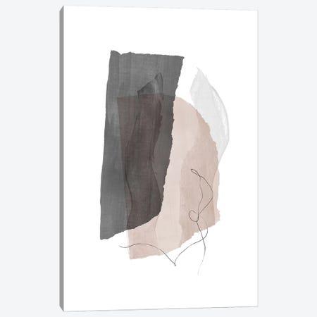 Fragment III - Gray Canvas Print #NUV169} by Nouveau Prints Canvas Print