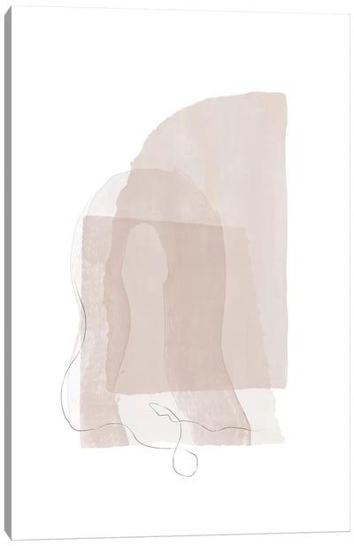 Fragment I - Neutral Colors Canvas Art Print