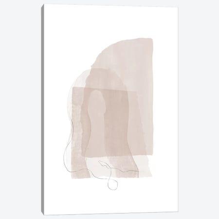 Fragment I - Neutral Colors Canvas Print #NUV170} by Nouveau Prints Canvas Art
