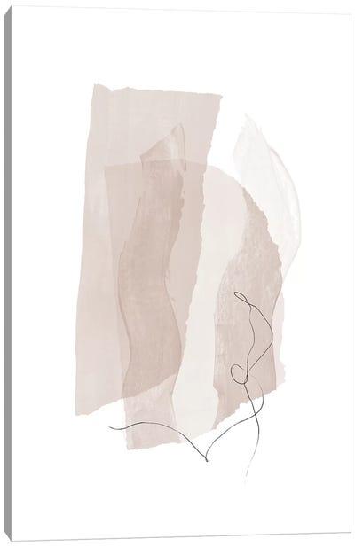 Fragment III - Neutral Colors Canvas Art Print