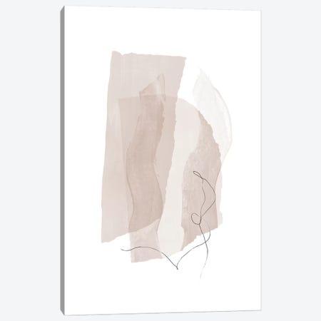 Fragment III - Neutral Colors Canvas Print #NUV172} by Nouveau Prints Canvas Wall Art
