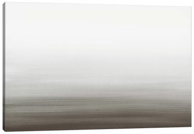 Watercolor Abstract Seascape Black And White Canvas Art Print
