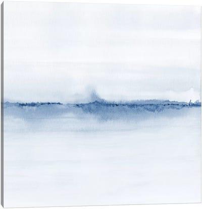 Watercolor Landscape V - Shades Of Blue - Square Canvas Art Print