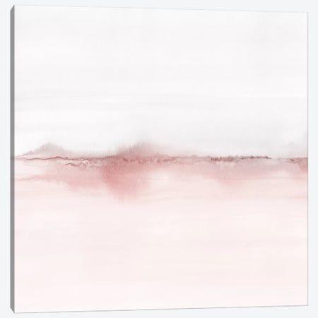 Watercolor Landscape VI - Blush Pink And Gray - Square Canvas Print #NUV176} by Nouveau Prints Canvas Art Print