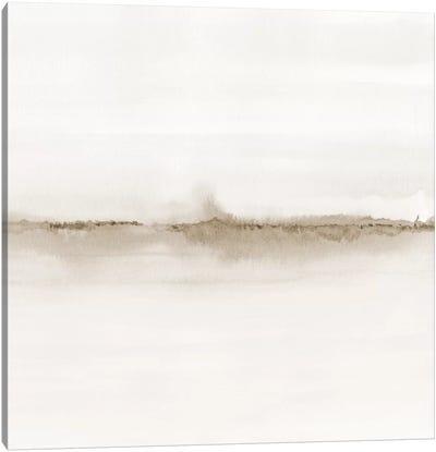 Watercolor Landscape VII - Shades Of Sepia - Square Canvas Art Print