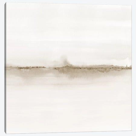 Watercolor Landscape VII - Shades Of Sepia - Square Canvas Print #NUV177} by Nouveau Prints Canvas Print