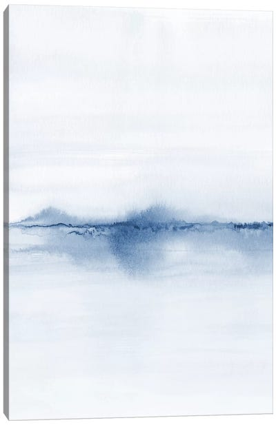 Watercolor Landscape V - Shades Of Blue 1/2 Canvas Art Print